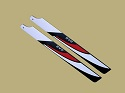 SAB Red/ White/ Black 430mm Main Blade - FBL Ready